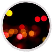 Traffic Lights Number 12 Round Beach Towel