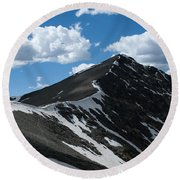 Trail From Grays To Torreys Round Beach Towel