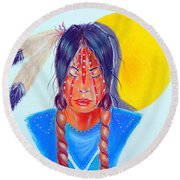 Trail Of Tears Round Beach Towel
