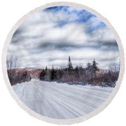 Trail One In Old Forge 2 Round Beach Towel