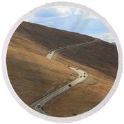 Trail Ridge Road Rocky Mountain National Park Round Beach Towel
