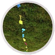 Trail To The Sand Round Beach Towel