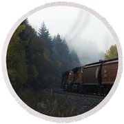 Train 1 Round Beach Towel