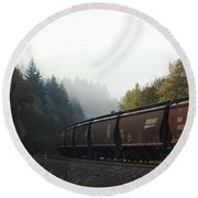 Train 2 Round Beach Towel