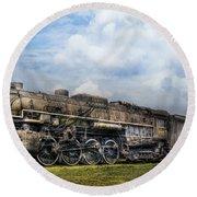 Train - Engine - Nickel Plate Road Round Beach Towel by Mike Savad