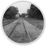 Train To Nowhere Round Beach Towel