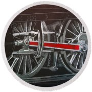 Train Wheels 4 Round Beach Towel