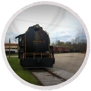 Trains 3 Vign Round Beach Towel