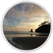 Tranquil Beauty Round Beach Towel