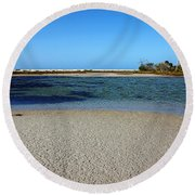 Tranquil Blue Round Beach Towel