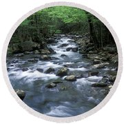 Tranquil Moments On Little Pigeon Creek Round Beach Towel