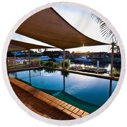 Tranquil Pool Round Beach Towel