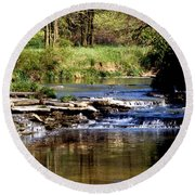 Tranquil Stream Round Beach Towel