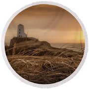 Tranquil Sunset At Llanddwyn Island - Anglesey, North Wales Round Beach Towel