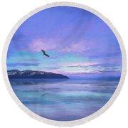 Tranquility At Dawn Round Beach Towel