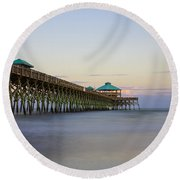 Tranquility At Folly Round Beach Towel