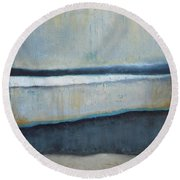 Tranquility Of The Dusk Round Beach Towel by Vesna Antic