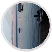 Tranquility On Sebago Round Beach Towel