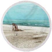 Tranquility On Tybee Island Round Beach Towel