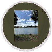 Tranquility - Port Richey, Florida Round Beach Towel