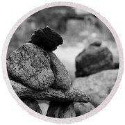 Tranquility Rocks Buddhist Monastery Carmel Ny  Round Beach Towel