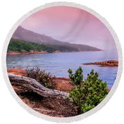 Tranquillity At Dawn Round Beach Towel