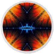 Transient Propagation Round Beach Towel