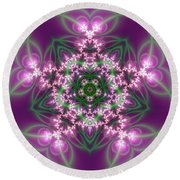 Transition Flower 5 Beats Round Beach Towel