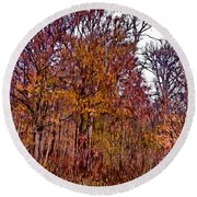Transitions - Painterly Round Beach Towel