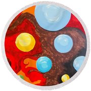 Transitions Time Space And Visions Of November Round Beach Towel