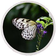 Translucent Wings On A Rice Paper Butterfly Round Beach Towel
