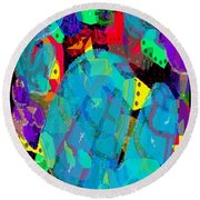 Transparencies Round Beach Towel