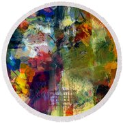 Transparent Layers Four Round Beach Towel