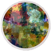 Transparent Layers Two Round Beach Towel