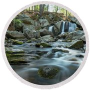Trap Falls In Spring 3 Round Beach Towel