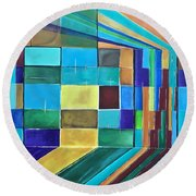 Trapped Round Beach Towel