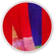 Travel Shopping Colorful Scarves Abstract Series India Rajasthan 1f Round Beach Towel