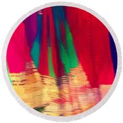 Travel Shopping Colorful Scarves Abstract Series Square India Rajasthan 1h Round Beach Towel