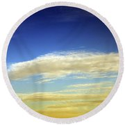 Travel Through Clouds Round Beach Towel