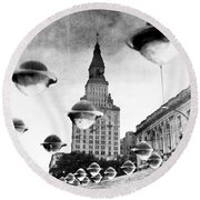 Travelers Insurance Tower Round Beach Towel