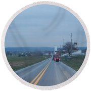 Traveling Home After Easter Monday Gatherings Round Beach Towel