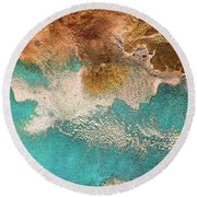 Traveling Soul Round Beach Towel