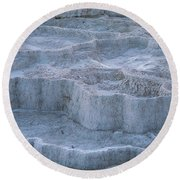 Mammoth Hot Springs Travertine Terraces Two Round Beach Towel