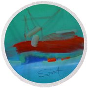 Trawler Round Beach Towel
