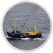 Trawling Off The Dingle Peninsula In Ireland Round Beach Towel