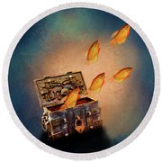 Treasure Chest Round Beach Towel