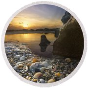 Treasure Cove Round Beach Towel by Debra and Dave Vanderlaan
