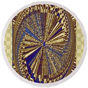 Treasure Trove Beyond Round Beach Towel by Will Borden