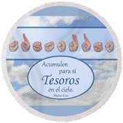 Treasures In Heaven Spanish Round Beach Towel