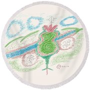 Treasures Of The Sierra Madre Round Beach Towel